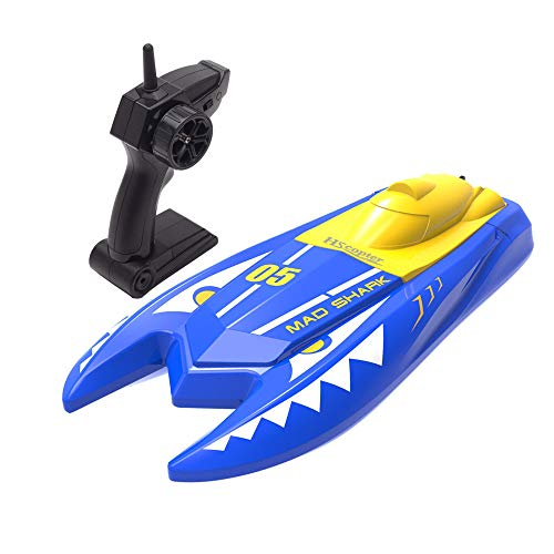 Remote Control Boat for Pools and Lakes, 2.4G RC Boat 15km/h High Speed Shark Boat with Rechargeable Battery Water Toys for Kids Adults, Gifts for Boys Girls