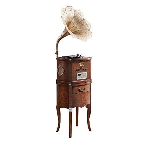 Sitang Madera maciza hechos a mano del antiguo gramófono