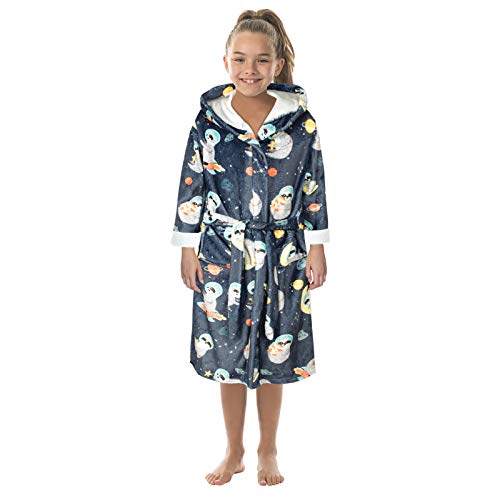 Dorical Kinder Bademäntel Flanell Nachthemd Cartoon Kapuzenmäntel Jungen Mädchen...