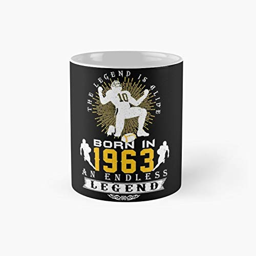 The 'football' Legend Is Alive - Born In 1963 Classic Mug Gift The Office 11 Ounces Funny White Coffee Mugs-nilinkep