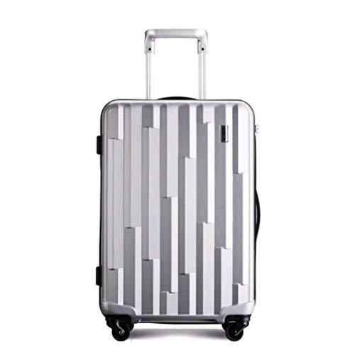 Dream Traveller Ultra Light Trolley Case Equipaje Universal Wheel Mute Travel Box chasis a Prueba de rayones Caja de contraseña Personal Juegos de Equipaje (Color: Silver, Size: 28)