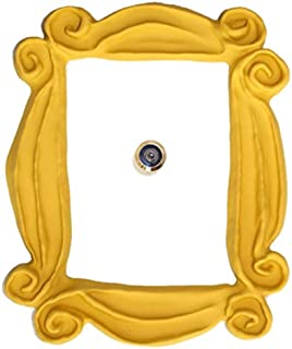 Handmade with Love by Fatima. Yellow Frame. It Includes a PEEPHOLE STICKER, It has Also..