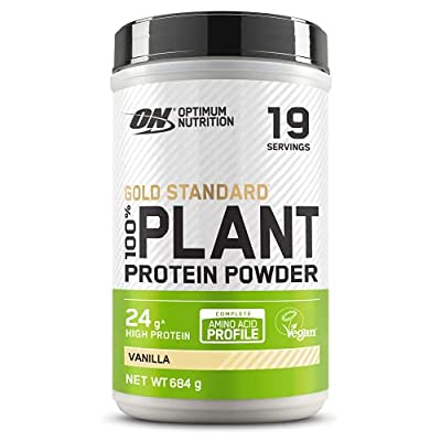 Optimum Nutrition ON Gold Standard 100% Plant Protein, High Protein Vegan Powder, Vanilla, 19 Servings, 684 g, Packaging May Vary