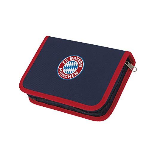 FC Bayern München Federtasche | Mia San Mia FCB Mäppchen für Schulkinder | Fanartikel Federmappe mit Bayern München Logo (Blau/Rot)