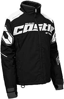 Castle X Strike Women's Snowmobile Jacket - Black/White (2XL)