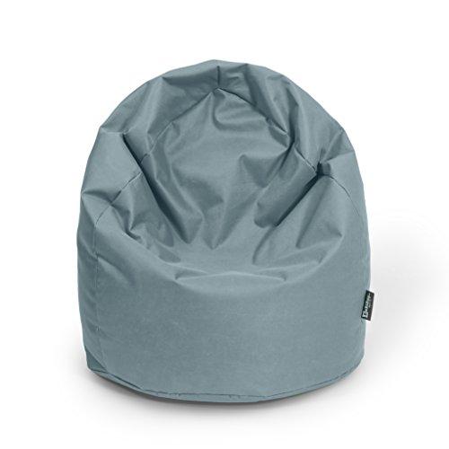 BuBiBag Sitzsack Tropfenform mit Füllung Made in Germany beanbag Sitzkissen für In & Outdoor 260 L mit Styropor Füllung in 32 versch. Farben (Anthrazit)