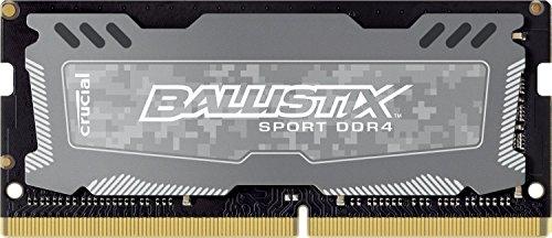 Crucial Ballistix Sport LT - Módulo de memoria RAM (4 GB, 1 x 4 GB, DDR4, 2400 MHz, DDR4, 2400 MHz, DDR4-2400/PC4-19200, 1,20 V, no ECC, sin búfer, CL16, 260 pines, SoDIMM (reacondicionado) ished)