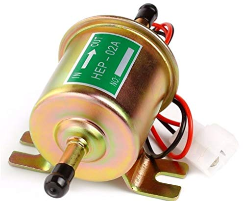 Inline Fuel Pump 12v Electric Transfer Universal Low Pressure Gas Diesel Fuel Pump 2.5-4psi HEP-02A
