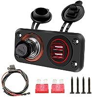 車のボートRVシガレットライタープラグ4.8AデュアルUSBポートLed車高速充電器