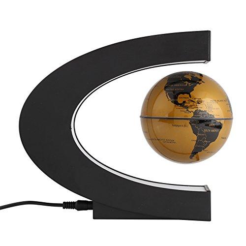 Globo Terráqueo Magnético, Globo Flotante Magnético en Forma de C con Luces LED,...
