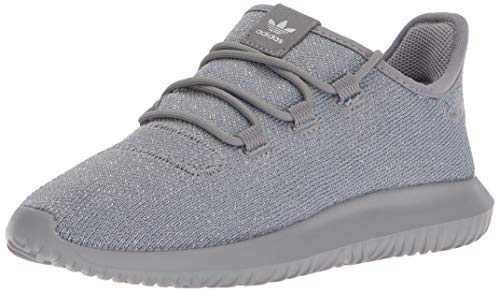 adidas Originals Boy's Tubular Shadow Running Shoe, Grey Three/Grey Three/Metallic Silver, 6 M US Big Kid