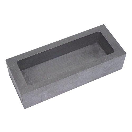 純黒鉛るつぼ 角型 石墨坩堝 鋳造インゴット 鋳型るつぼ シルバーゴールド溶融 金銀銅融解用 (125x50x30mm)