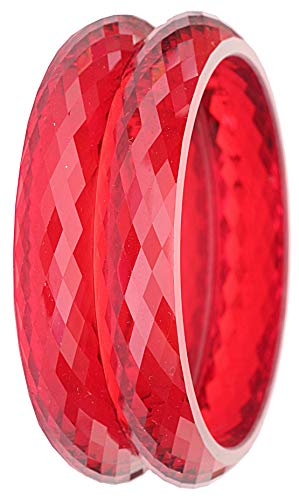 NMII Glossy Diamond Pattern Acrylic Bangles/Kada for Women &