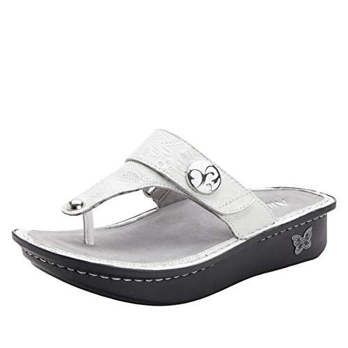 Alegria Carina Womens Sandal Hello Doily White 11 M US