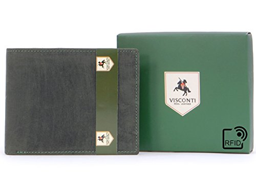 VISCONTI - SHIELD 707 - Cartera - Cuero Hunter - Verde - RFID