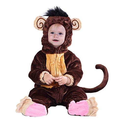 Hsctek Kids' and Baby Costumes, Monkey Toddler Costumes for Boys Girls, Funny Baby Costumes 6-12 Months, Halloween Infant Costume
