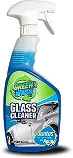 Green Wash 3 Limpiador De Cristales Parabrisas Ventanas Y Espejos Botella De 1 Litro con Atomizador