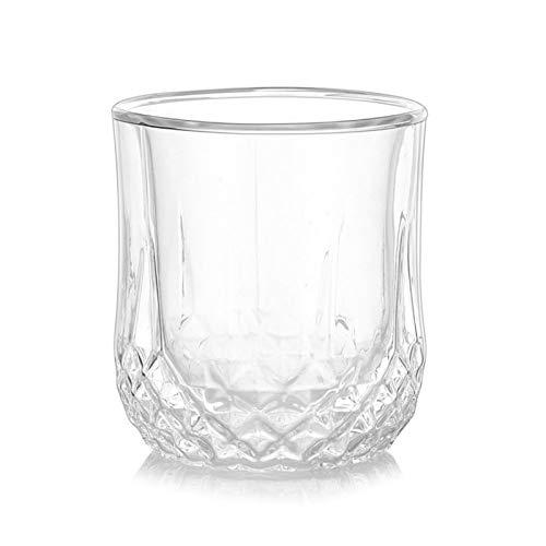 YGLONG Copas De Vino Taza Transparente de Cristal de Whisky de Cristal Resistente al Calor de Doble Pared de Vidrio de la Taza for Whisky Vino Vodka Bar Vasos Copas De Vino Tinto