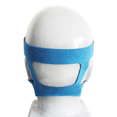shizhongminghe-IT Design Universale Copricapo Comfort Gel Maschera Completa Sostituzione Ambientale sicura Fascia CPAP Senza Maschera per PHILPS-Grigio e Blu-