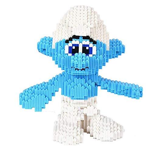 ET-YZWJ Bloquea los Juguetes 3D Pitufos Modelo Nano DIY Bloques de construcción Regalos de cumpleaños Creativo de Educación de Navidad para niños y niñas