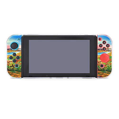 Funda protectora para Nintendo Switch, acrílico impresionista pinturas funda duradera para Nintendo...