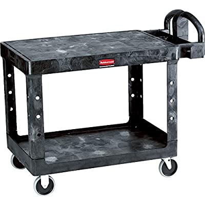 Rubbermaid Commercial Products Heavy Duty 2-Shelf Utility/Service Carts with 500 lbs. Capacities