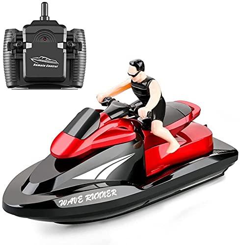 CYLYFFSFC 2,4G Funkfernsteuerungs-Motorboot, 20km/h Hochgeschwindigkeits-Fernsteuerungsboot, Doppelpropeller-Fernsteuerungsboot, dual-elektrisches elektrisches Yachtmodellspielzeug, Geschenke für Kind