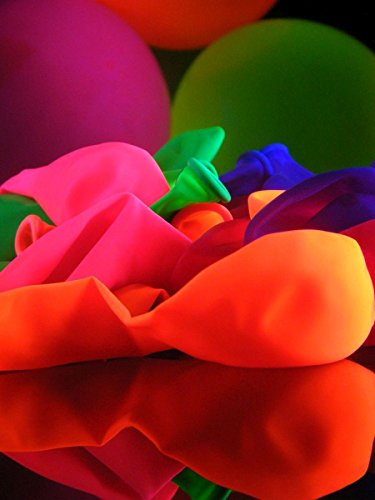 100er-Pack Schwarzlicht Luftballons Neon Gemischt