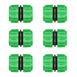 CaLeQi Rallonges de Réparation de Tuyau 1/2″ Pour Raccordement de Tuyau d'arrosage et de Tuyaux d'eau de pour Réparation Rapide 6pcs