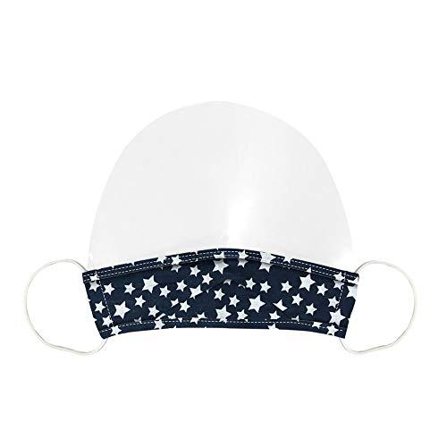 Cubierta de protección facial unisex Mini Shiel lavable reutilizable cómodo escudo facial transparente velo visual a prueba de polvo capucha transparente Escudo facial Domino (A)