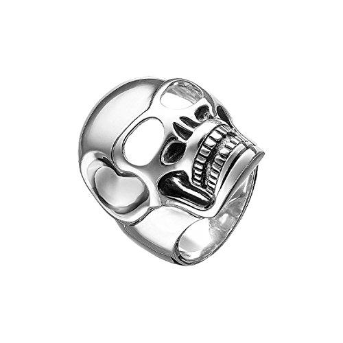 Thomas Sabo TR1704-001-12-64 Rebel at Heart - Anillo para hombre, plata 925, diseño de calavera
