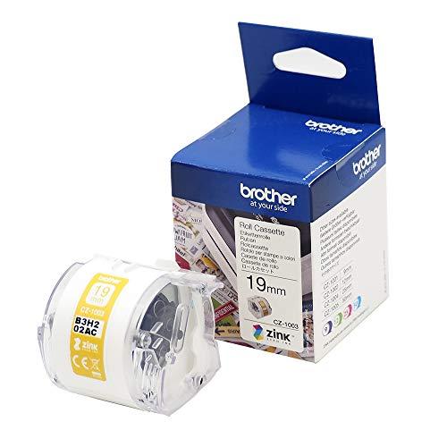 Brother CZ-1003 Farbetikettenrolle, 19 mm breit, 5 m lang für Etikettendrucker VC-500W