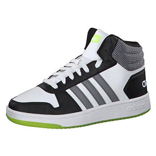 adidas Hoops Mid 2.0, Scarpe da Basket Unisex-Bambini, Bianco (Ftwwht/Grethr/Cblack 000), 31.5 EU