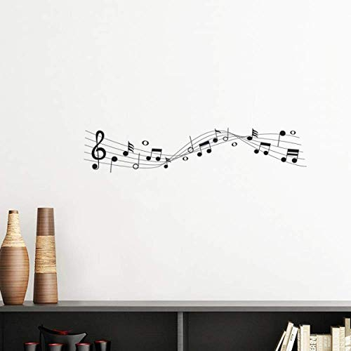 DIYthinker Blue Music Movg 5-le Staff Vinyl Wall Sticker Wallpaper Room Decal