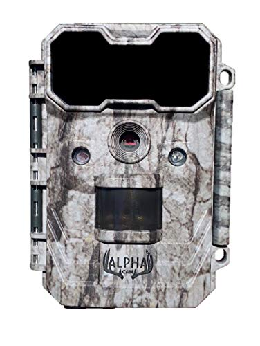 "Alpha Cam Hunting Trail Camera 20MP 1080p 30fps Waterproof Scouting Cam with Ultra Fast Trigger Speed and Recovery Rate 2.4"" Color Viewscreen 48 IR LEDs Long Range Night Vision"