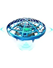 DEERC ドローン こども向け おもちゃ ラジコン ヘリコプター ミニドローン ジェスチャー制御 ハンドコントロール 五つのセンサーが搭載 360度回転 自動回避障害機能 自動ホバリング 2段階スピード調整 LEDライト付き プレゼント 贈り物