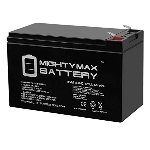 ML8-12 - 12 Volt 8 AH SLA Battery - Mighty Max Battery Brand Product