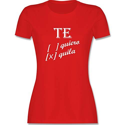 Statement - Te Quiero, Tequila - XXL - Rot - Tequila - L191 - Tailliertes Tshirt für Damen und Frauen T-Shirt