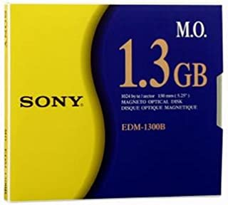 Sony 5.25 2X Rewrite Magneto Optical 1-Pack 1024 Bytes/Sec 1.3GB (Discontinued by Manufacturer)