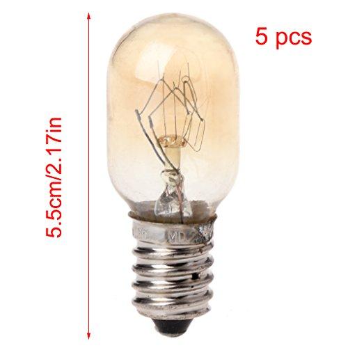 Hergon 5-teiliges Mikrowellen-Ersatz-Leuchtmittel, 230 V, 20 W, hochwertige Glaslampenfassung