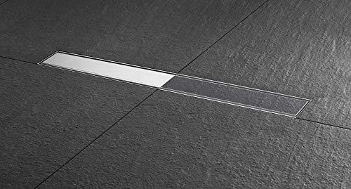 Duschrinne Easy Drain ESS Basic Komplett Set befliesbar / Edelstahl gebürstet 800mm / 80cm