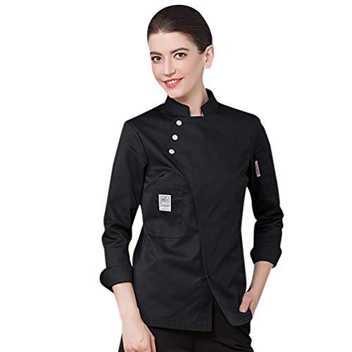 Dooxii Unisex Herren und Damen Herbst Winter Langarm Kochjacke Westliches Essen Restaurant Küche Hotel Uniform Berufsbekleidung