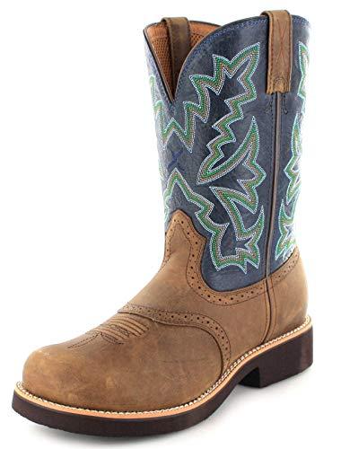 Twisted X Boots Herren Cowboy Stiefel 1716 Barn Burner Westernreitstiefel Lederstiefel Braun 43 EU