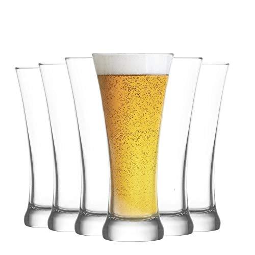 Lav Sorgun - Vaso para Cerveza Pilsner - 380ml - Pack de 6