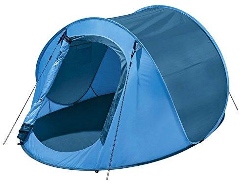 Wurfzelte Zelt Auspacken und werfen - Zelt springt von alleine auf (Blau)