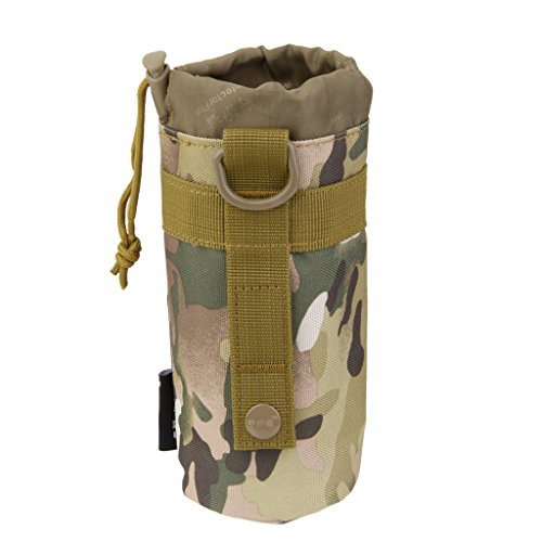 ACU Camouflage Sac Poche de Bouteille dEau Porte Bouteille Syst/ème Molle Tactique pour Camping