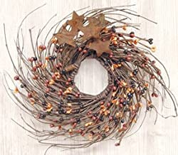 Pip & Twig Wreath with Rusty Stars (Primitive Mix)