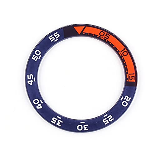 ZRNG Piso 42-33mm Inserto de plástico Fit para IWC 44mm Aquatimer Family Bezel Watch Reloj de Cara Reemplace Las Piezas de Accesorios IW376704 (Color : A)