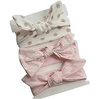 COUXILY beb/é-ni/ñas diademas de algod/ón suave arco anudada Hairband Headwrap Elastic Bow Turbante aros de pelo para ni/ños beb/és Set de regalo para ni/ños