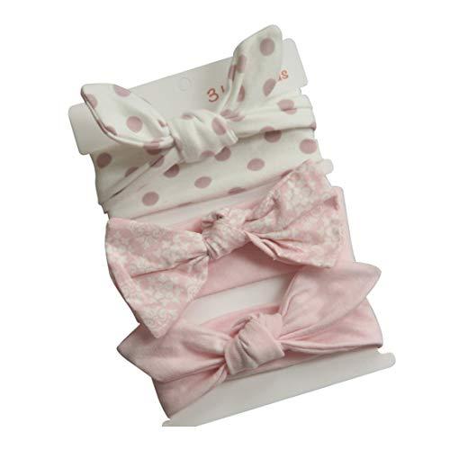 COUXILY bebé-niñas diademas de algodón suave arco anudada Hairband Headwrap Elastic Bow Turbante aros de pelo para niños bebés Set de regalo para niños (B02)